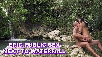 Spanish doll anastasia brokelin riding dick with passion in public next to waterfall thumbnail