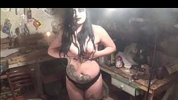 Breast huge white woman White gardenia - beautiful girl playing with her breasts excerpt goth girl black metal gothic huge titties nipples domination