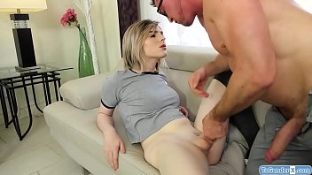 Stepdad barebacks shemale Ella Hollywood