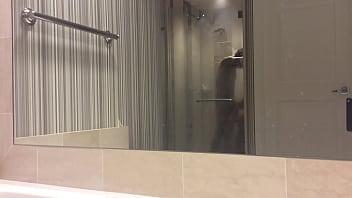 Big tean dicks Hotel shower head interracial asian teen black head nice bj blowjob handjob