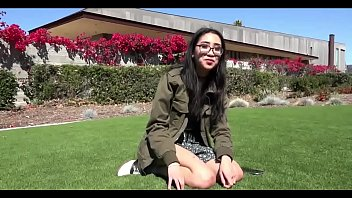 NERDY ASIAN TEEN FLASHES HER TITS IN PUBLIC AND FUCKED HARD