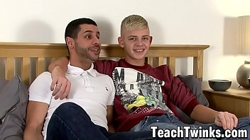 Bearded young man is eager to plow his bottom twink friend
