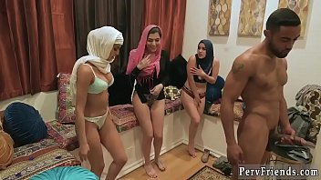 Blowjob balls cum Hot arab nymphs with hijab try foursome