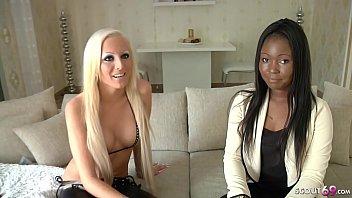 German Lesbian - ECHTES LESBEN CASTING MIT SCHWARZER DEUTSCHEN AUS HAMBURG porn image