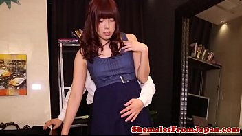 Japanese amateur tranny assfucked from behind