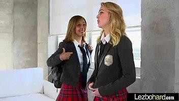 (Cali Sparks & Kelly Greene) Lesbian Lovely Teen Girl In Sex Action Tape movie-07