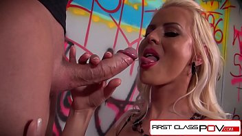 FirstClassPOV - Lyanna Nilsson sucking a monster cock, big boobs & big booty