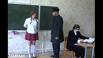 Redhead russian schoolgirls gets whipped by the teacher. Bdsmmasters.com