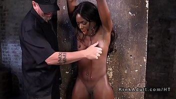 Stunning ebony slave got brutal torment