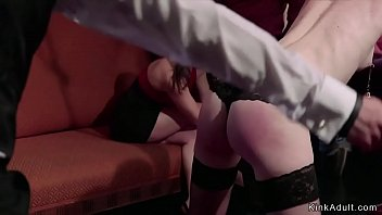 Babes are spanked and orgy bdsm fucked