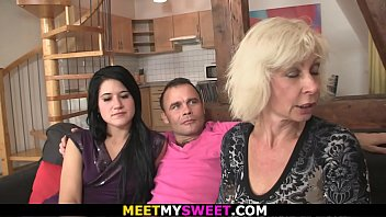 Couples seduce young lesbian - Old couple seduce and fuck sons young girlfriend