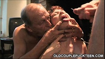 Mature men women Cross-age european foursome