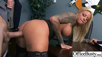 Naughty sex with shannon - Hardcore sex tape in office with big melon tits girl britney shannon video-13
