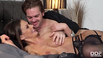 Green sexy lingerie Sperm-hungry vamp tina kay stimulates her clit while being fucked real hard