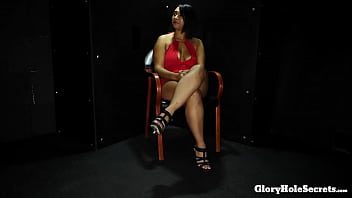 Busty young slut eats the cum of strangers