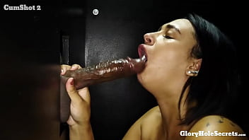 Busty young slut eats the cum of strangers