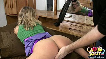 I spank my Spanked wife gets her ass red by amateur bff