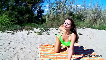 Perfect babe fuck on public beach without any problem with stranger