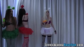 Real cosplay teen jizzed
