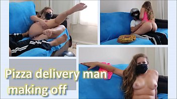 Pizza delivery man - making off