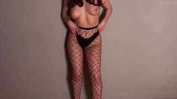 Fingering and striptease from Russian wife in stockings | KleoModel
