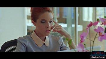 Romance novel writer redhead MILF gets carried away
