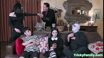 The Adams Family orgy with Kate Bloom and Audrey Noir (Parody)