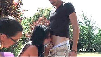 Casting amateur dark haired french slut with small tits sodomized outdoor