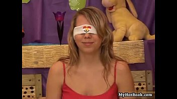 Blindfolded teen beauty Sue loves to play games li