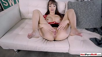 Busty MILF stepmom surprises stepson for good grades
