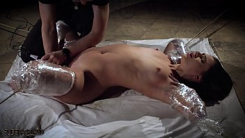 Hot rough kinky sex Rough bondage slapping her pussy and the slave screams