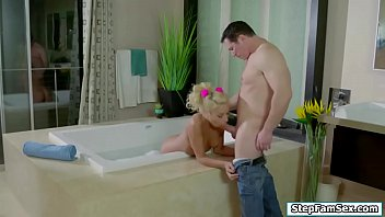 Slut Carmen fucking stepdad after shower