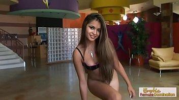Latina babe enjoys her partner's dick with a great handjob