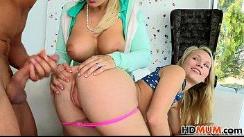 Mom Angel Allwood shares cock with Dakota James