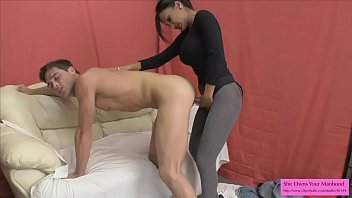 Hot Indian Sex Therapist Fucks Guy with Strapon and Titty Fucks him