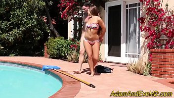 Bikini Babe Spunk Soaked