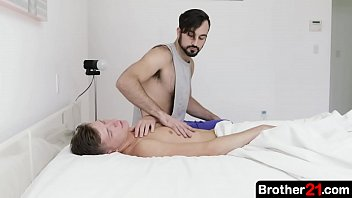 Horny Step Brother Tastes The Cute Twink's Dick And Then Bends The Boy Over To Fill His Eager Hole With His Meaty Cock