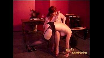 Spank naughty girl Busty raven-haired harlot enjoys letting a redhead slag spank her hard