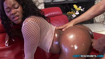 Up the but painfull anal - Roundass ebony twerker drilled and jizzed