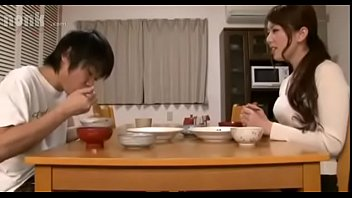 bored stepmom Yui Hatano  gives stepson a footjob