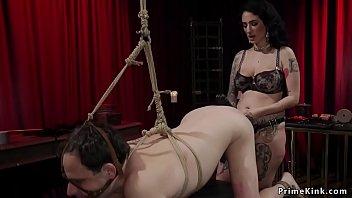 Alt dom spanks butt plugged man slave
