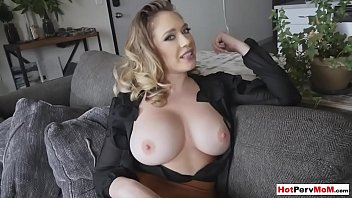 Fucking my sexy chubby MILF stepmoms pierced pussy
