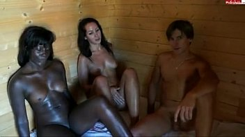 Freaky sauna 3some