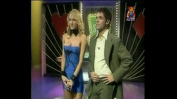 Adult television channel in india - Ultra sexy big tits girl plays strip poker on tv show