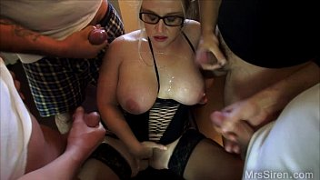 Wife Surrounded by Guys Jerking Off Preview