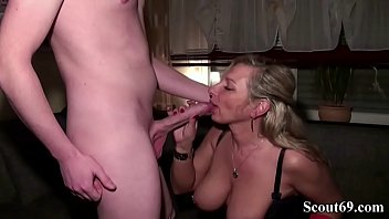 German Mother comforts Big Dick Friend of Daughter with Fuck