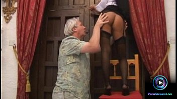 Footjob from croc Luscious valentina velasquez gives sensual footjob to grandpa
