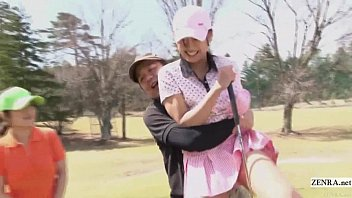 Female sex golf ball washer Subtitled uncensored hd japanese golf outdoors exposure