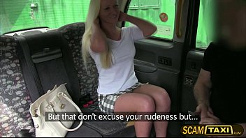 Hot Blonde Sophie Sucks And Fucks In The Backseat Of The Taxi