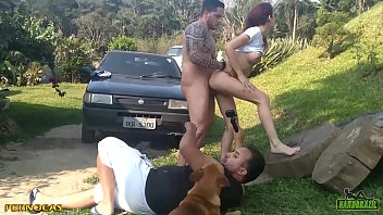 Backstage recording for Hardbrazil looks what the dog did - Pernocas - Binho Ted - Hugo Belfort